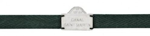 Bracelet vert Canal Saint Martin