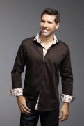 chemise-marron-rever-poignet-a-motif