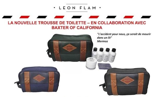 trousse de toilette Leon Flam x Baxter of California