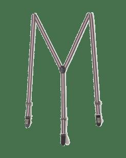 Bretelles à rayures détails cuir (15.99€)