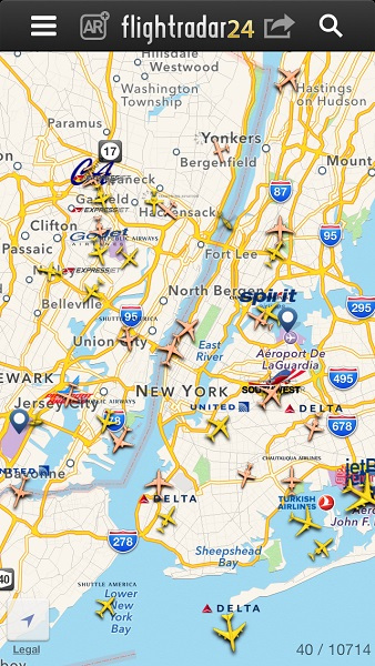 vue de New York Flightradar24