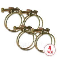 """Wire Hose Clamps for 1-1/2"""" Hose - 4 Pack"""