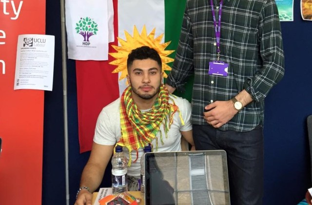 Kavar (left) and VP of the UCLU Kurdish Society