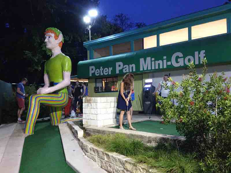 A view of one course at Peter Pan Mini Golf.