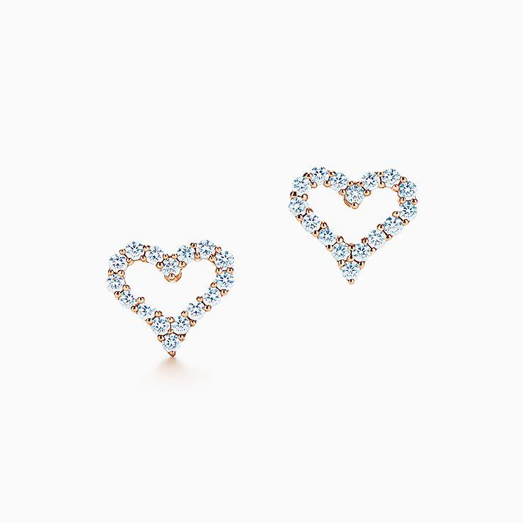 ティファニー センチメンタル ピアス ダイヤモンド 18Kローズゴールド