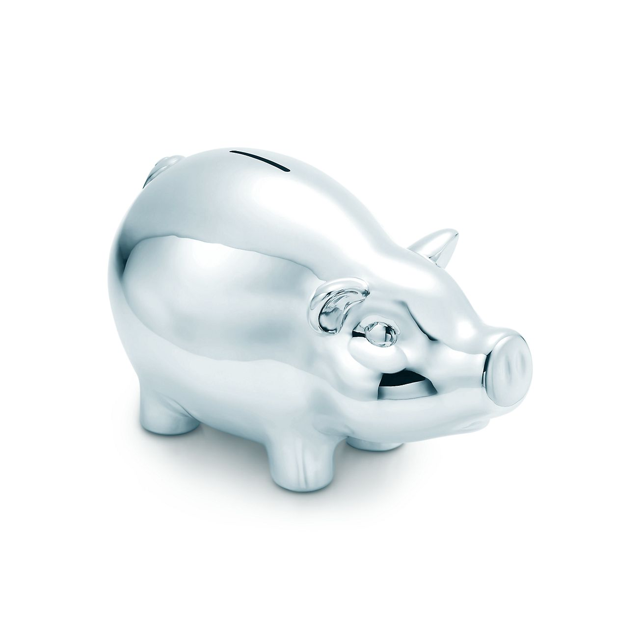 Silver Piggy Bank For Baby Piggy Bank In Sterling Silver Tiffany And Co