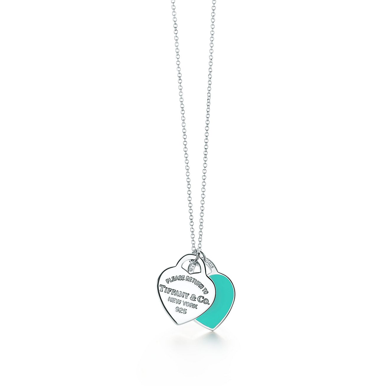Return To Tiffanytm Double Heart Tag Pendant In Sterling