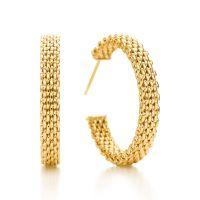 Tiffany Somerset narrow hoop earrings in 18k gold, medium ...