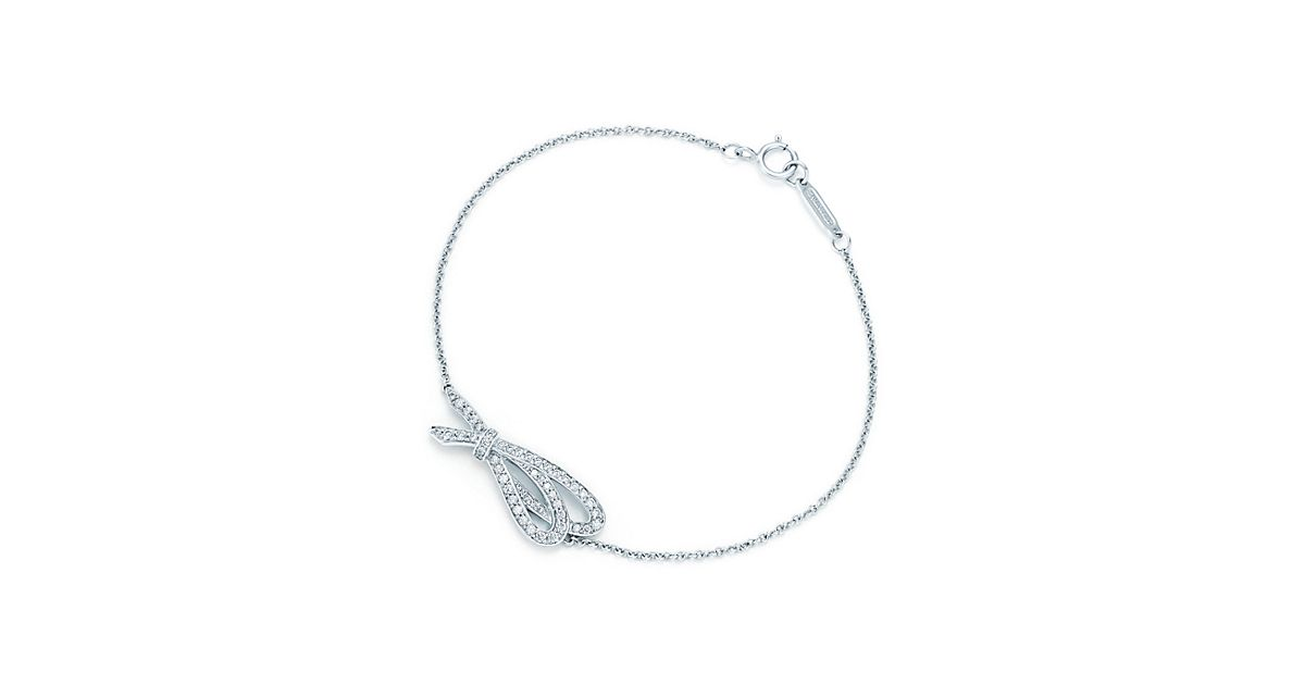 Tiffany Bow Bracelet In 18k White Gold With Diamonds