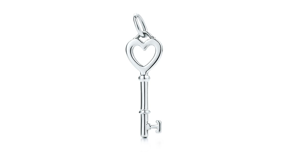 Tiffany filigree heart necklace with key traumspuren tiffany keys heart key pendant in sterling silver saveenlarge aloadofball Image collections