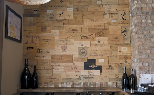 Weinkisten Wand Wine Crate Wall At Davanti Enoteca