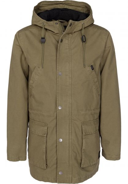 Ground Control II RVCA Parkas and Coats in burntolive for Men Titus