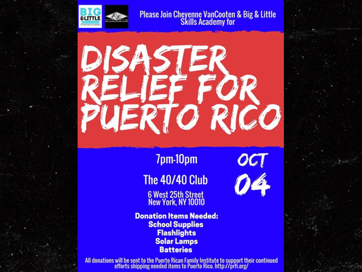 Jay-Z Gets His Businesses Involved In Puerto Rican Disaster Relief - Disaster Relief Flyer