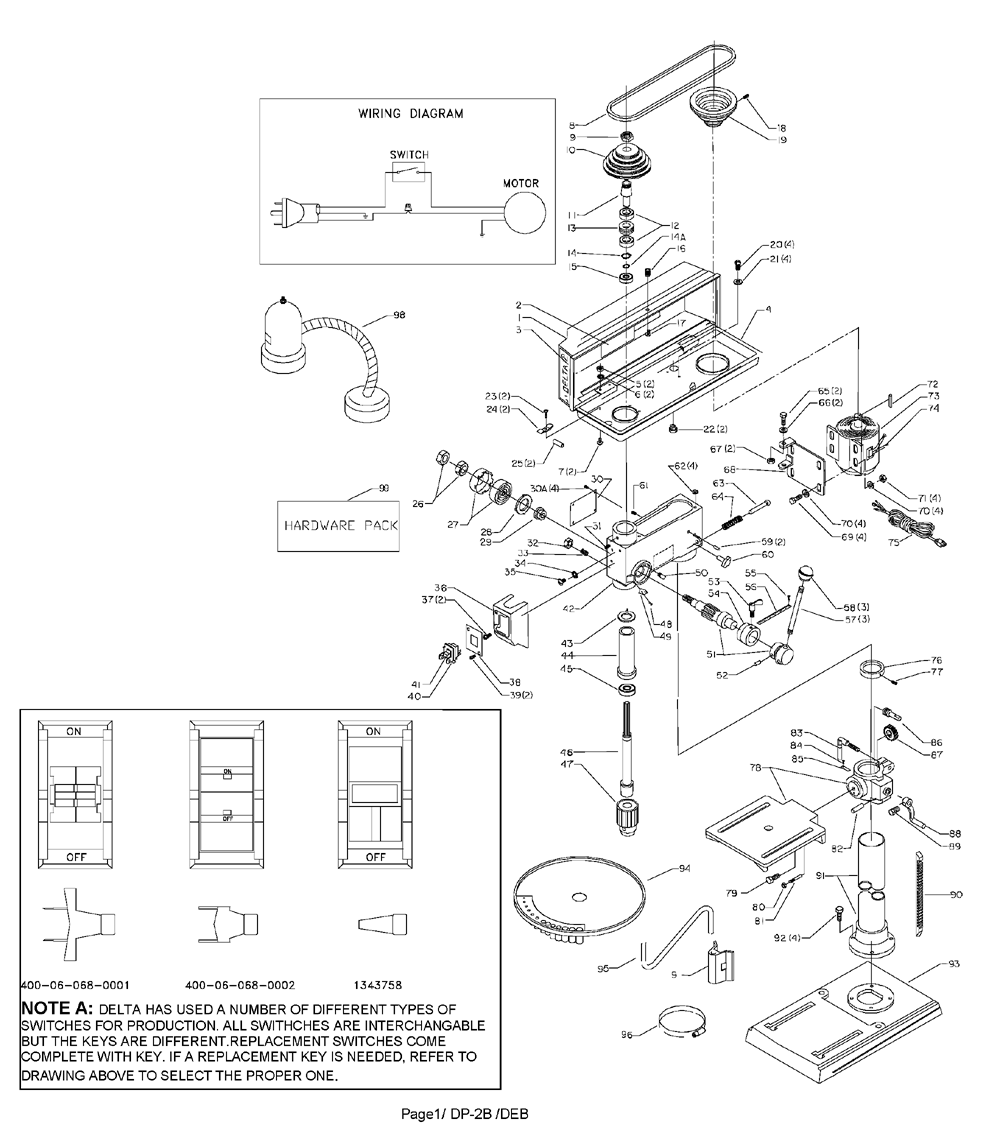 Delta Tools Wiring Diagram Auto Electrical For Drill Press 36