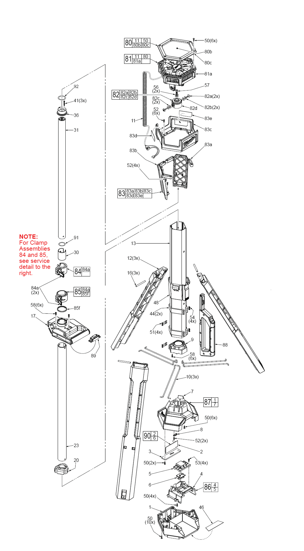 light stand diagram