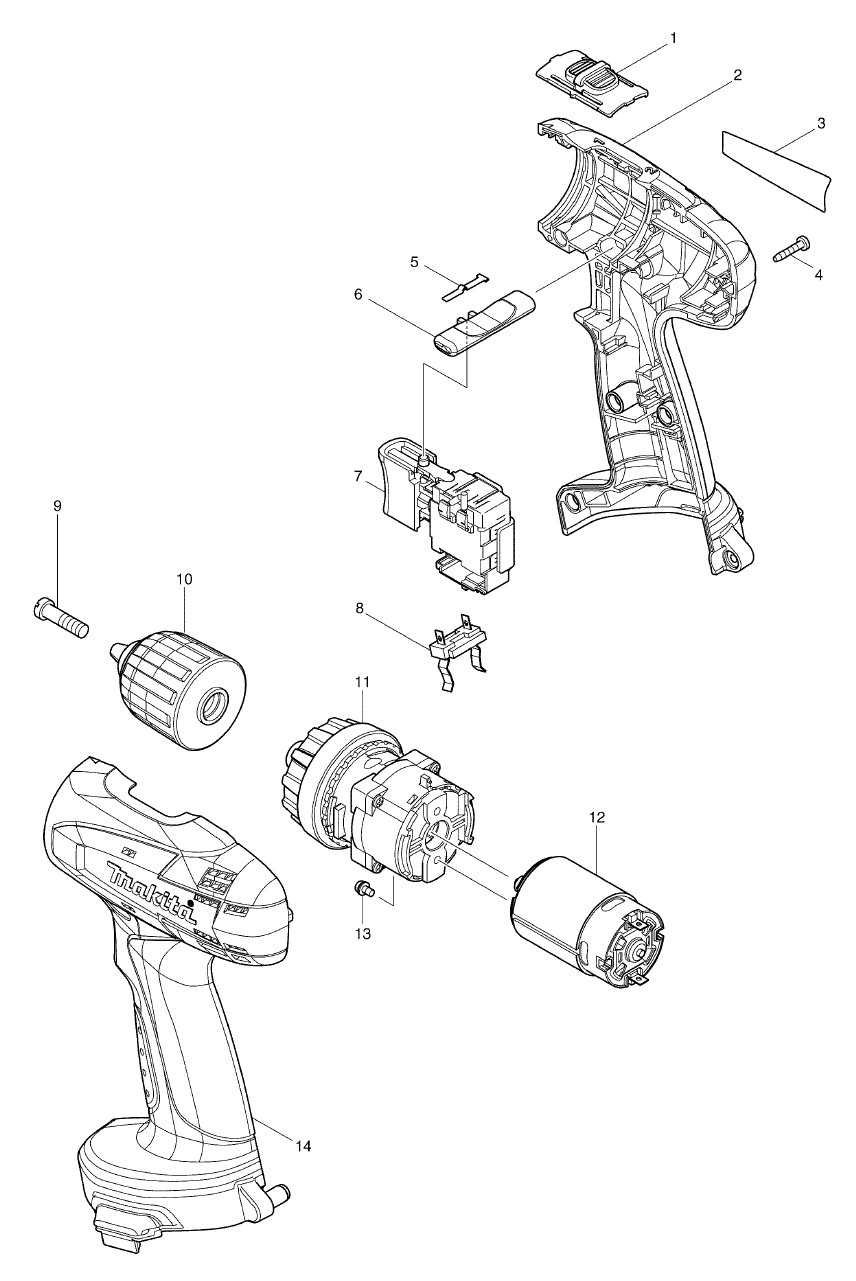 cordless drill wiring diagram