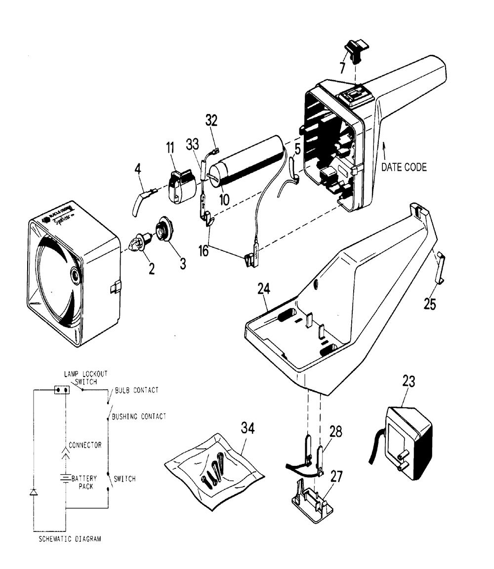 xenon flashlight diagram