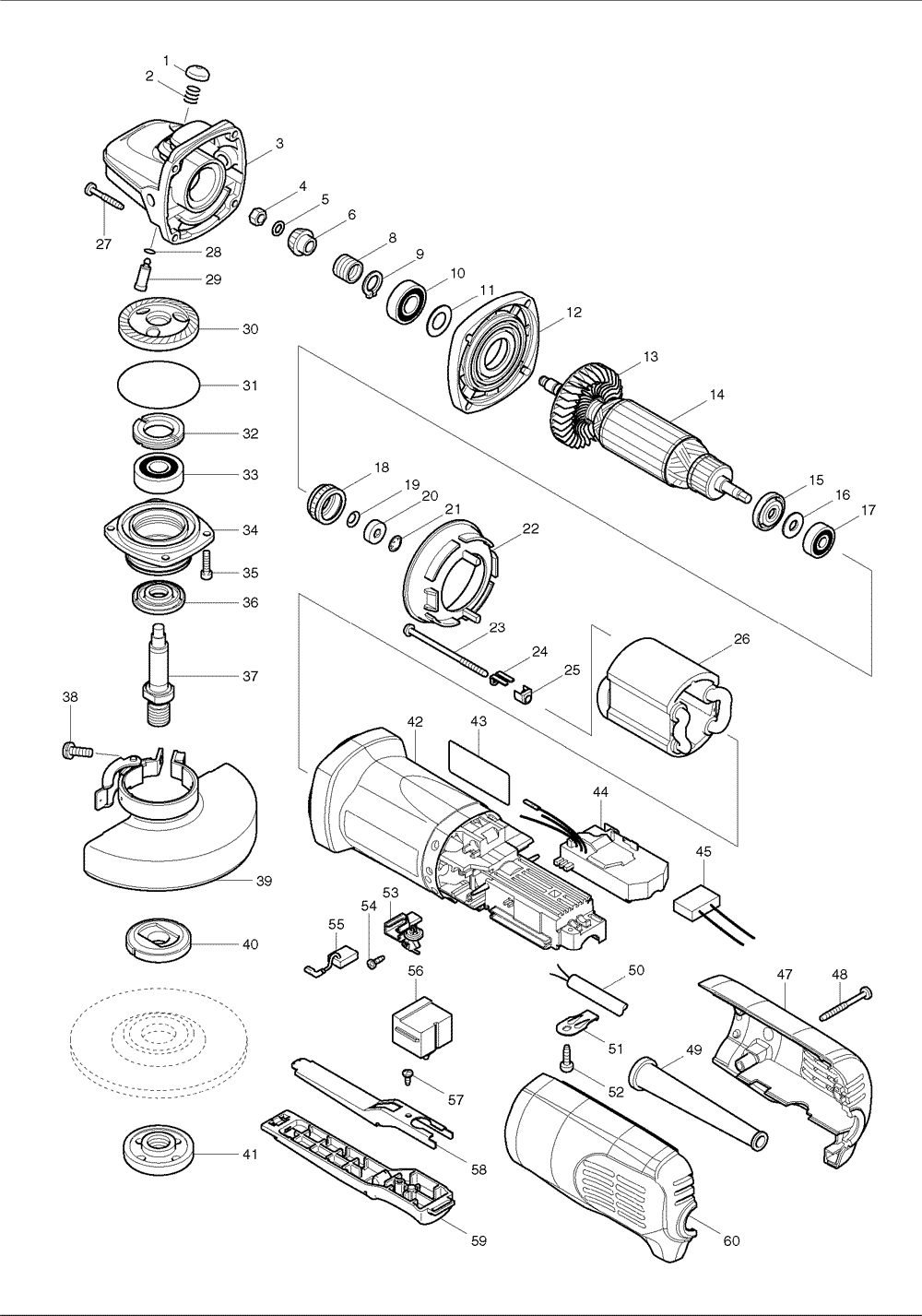 makita grinder wire diagram