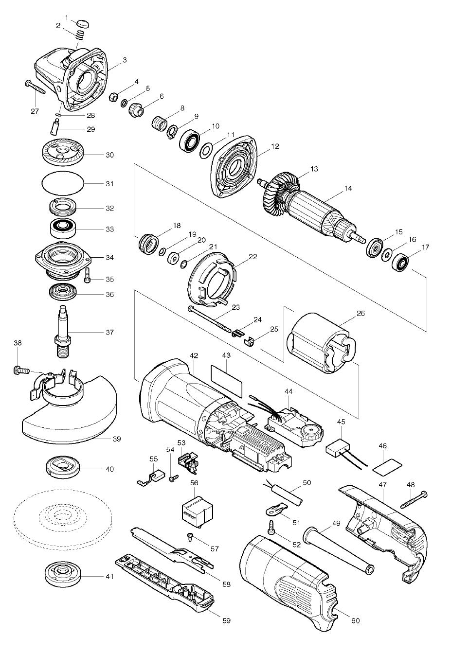 makita 2703 switch wiring diagram