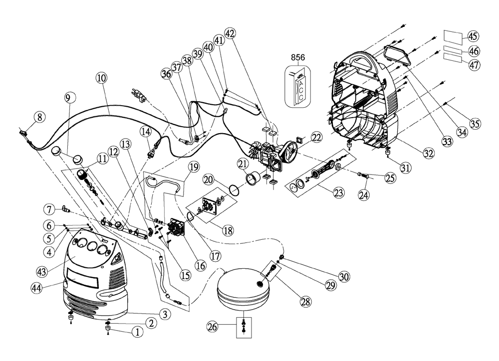 porter cable air compressor wiring diagram