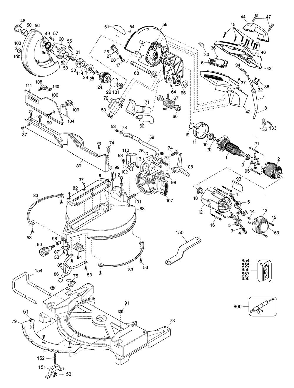 dewalt saw parts diagram
