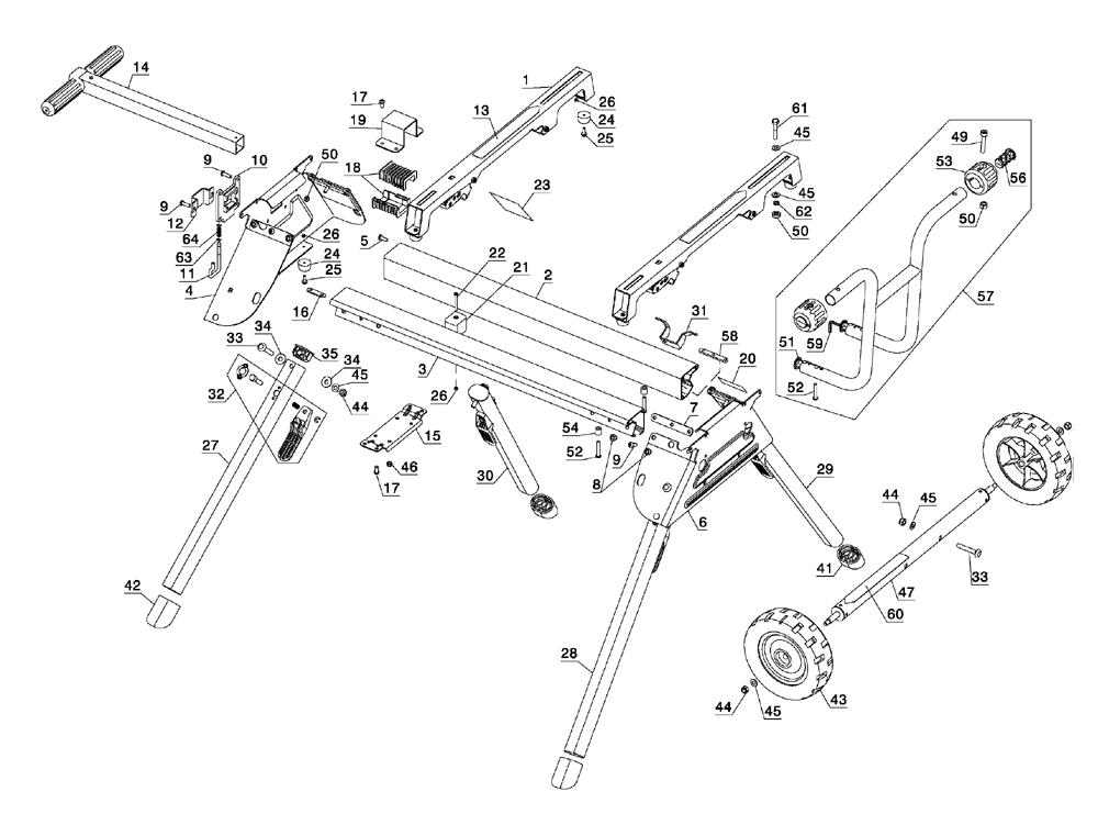 dewalt dw7440rs parts list and diagram
