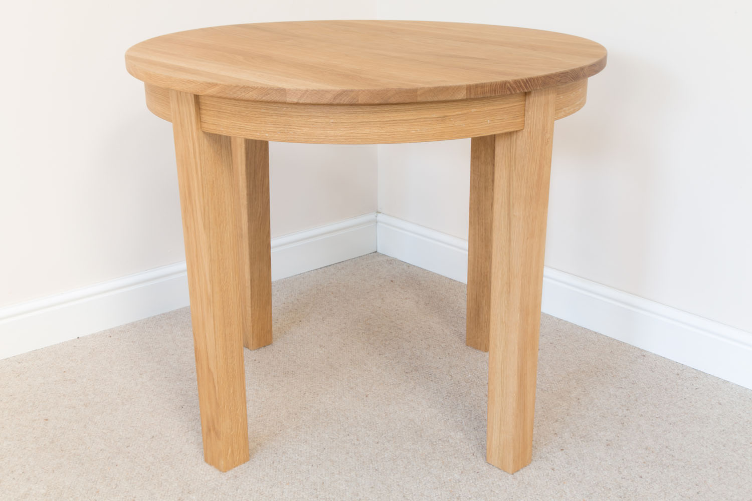 Round Oak Dining Table Round Solid European Oak Dining Table 90cm Baltic Premium