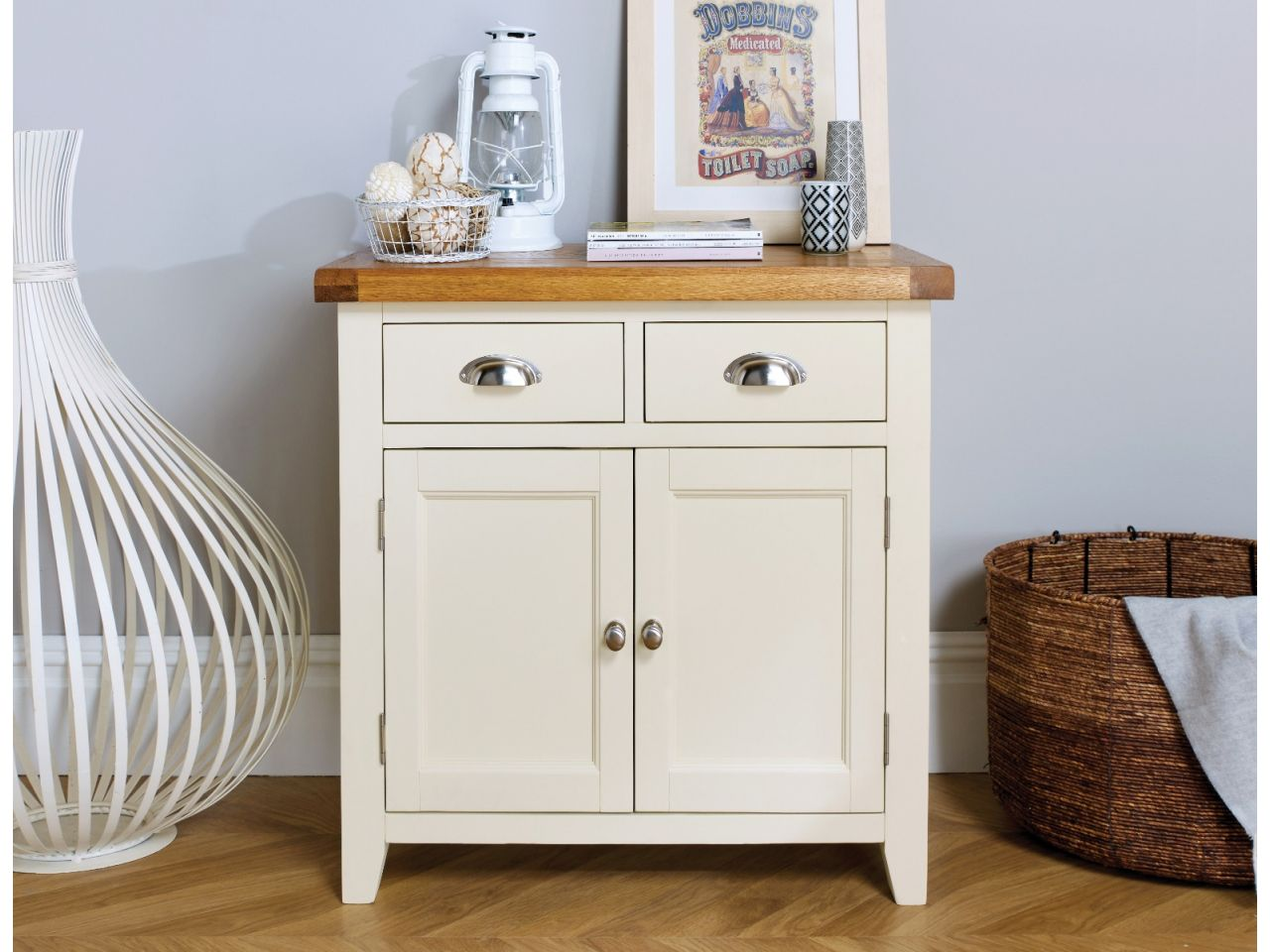 Sideboard 80 Cm Small Cream Painted Oak Sideboard 80cm Country Cottage