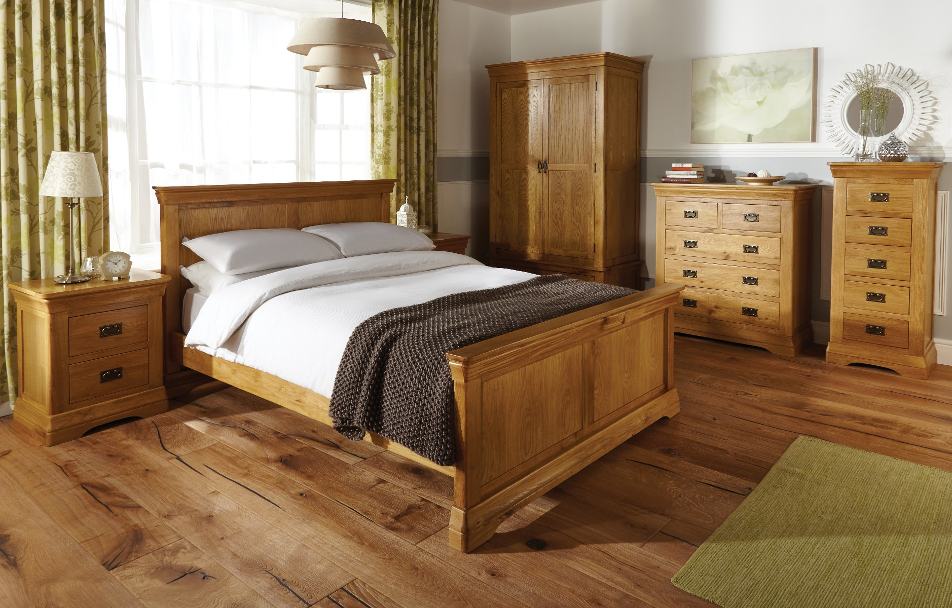 Country Oak Double Bed 4 Foot 6 Inches Free Delivery Top Furniture