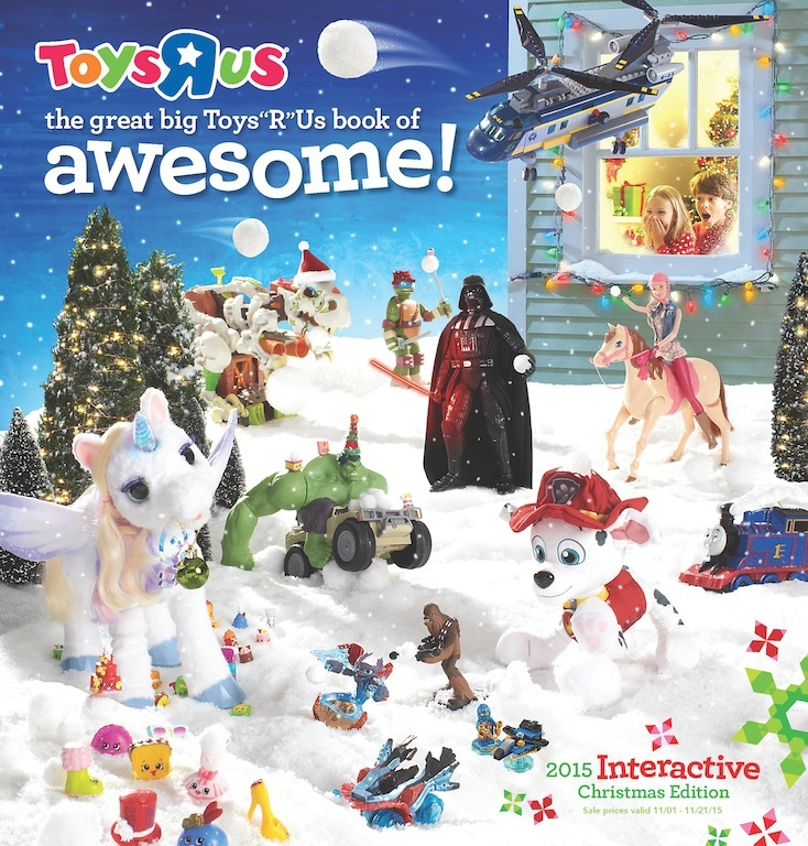 The Great Big Toys \u201cR\u201d Us Book Of Awesome Arrives In Homes This Week - christmas toy sales