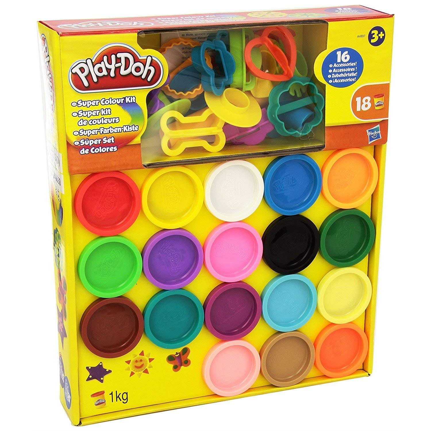 Play Doh Knet Küche Hasbro A4897 Play Doh Super Colour Kit