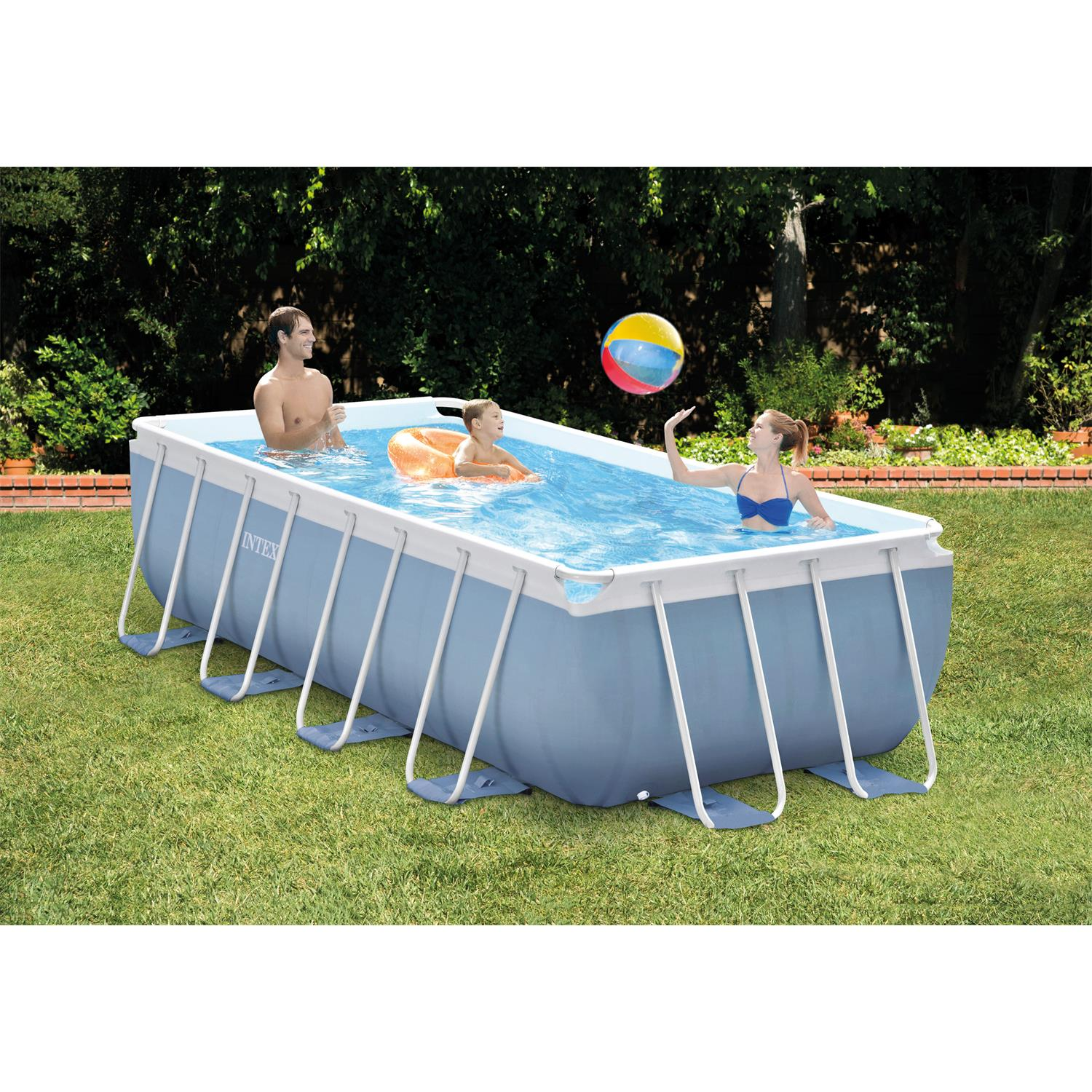 Pool Rund Ohne Pumpe Intex 26776gn Prismframe Pool Set Inkl Pumpe 400 X 200 X