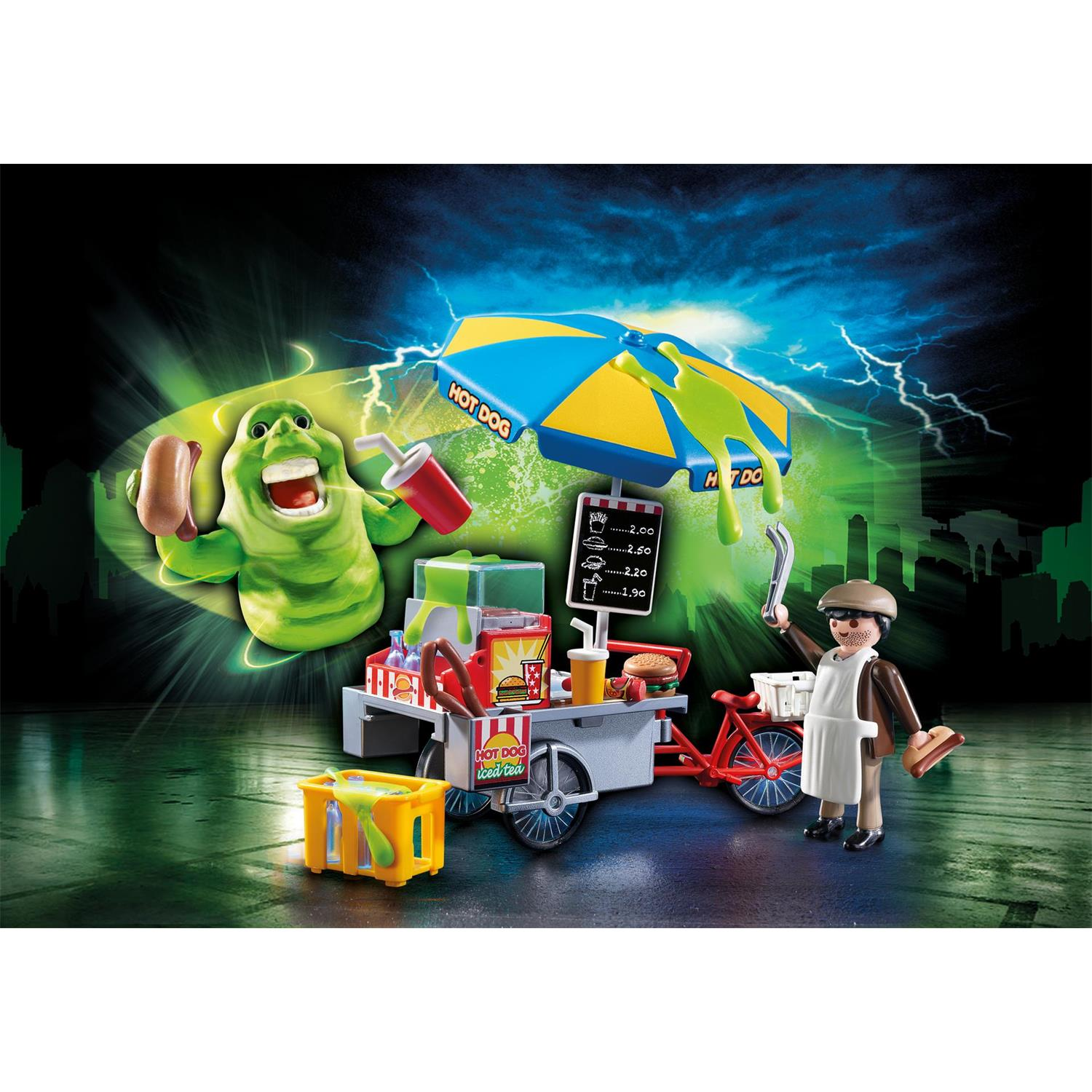 Lego Küche 70er Playmobil 9222 Ghostbusterslimer Mit Hot Dog Stand
