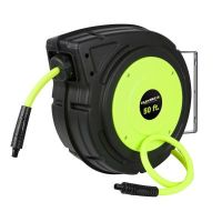Flexzilla Enclosed Plastic Retractable Air Hose Reel, 3/8