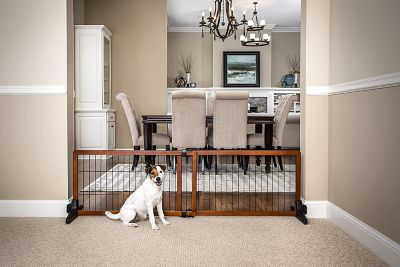 Carlson Design Paw Extra Wide Freestanding Pet Gate at