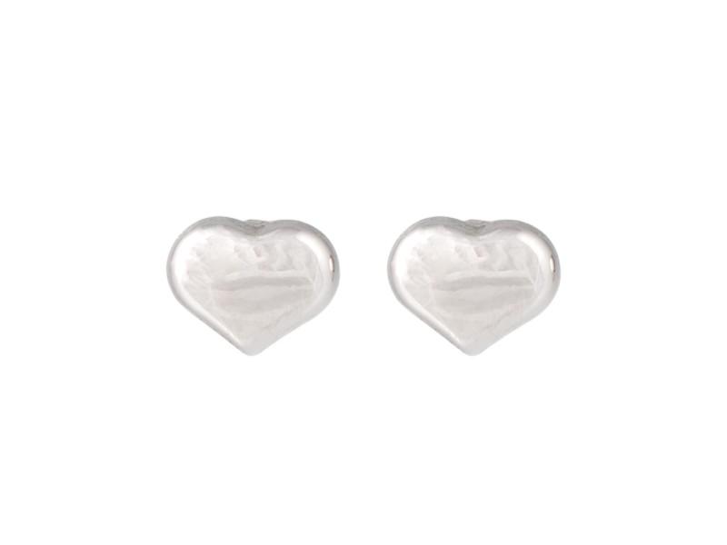 Roberto Coin 18K White Gold Heart Stud Earrings