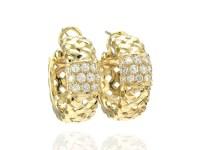 Tiffany & Co. Vannerie 18K Yellow Gold 1.12ct. Diamond ...