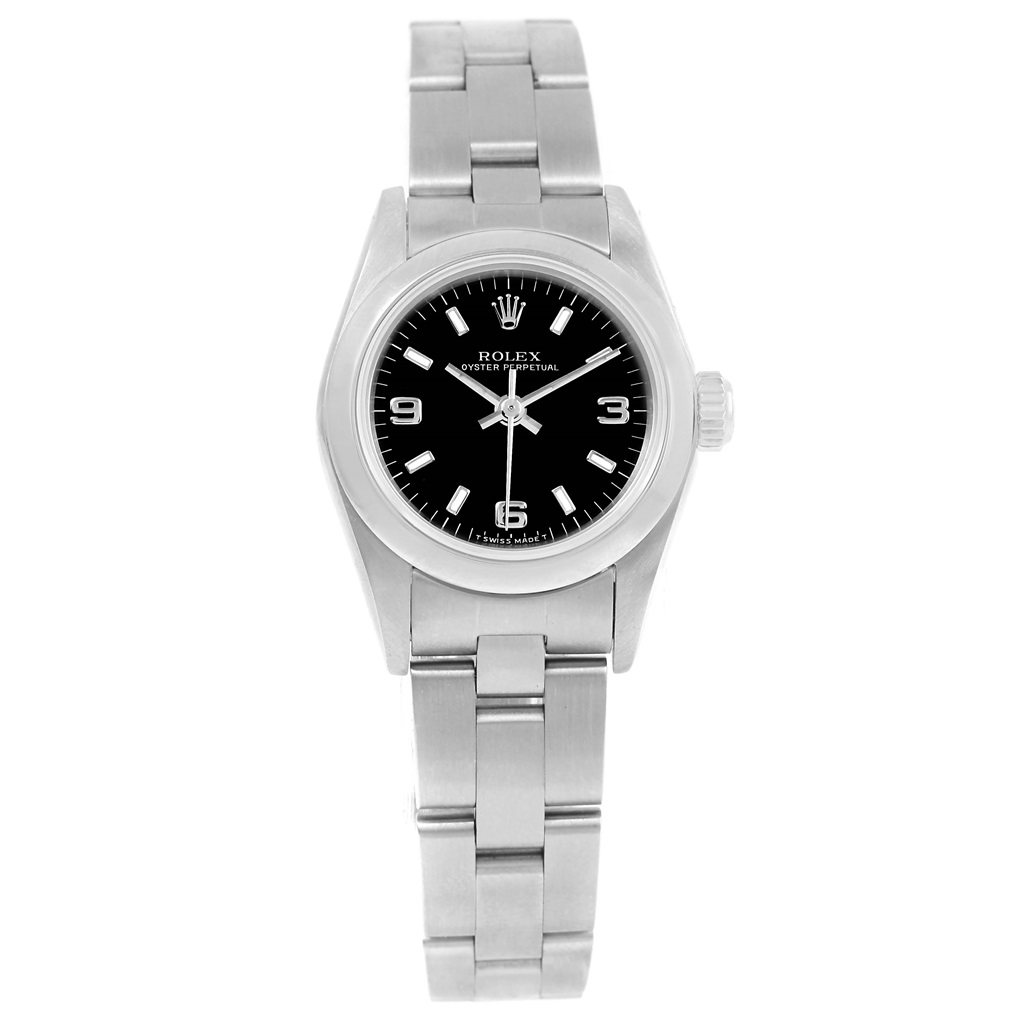 Steel Watch Rolex Oyster Perpetual 67180 Stainless Steel 24mm Womens Watch