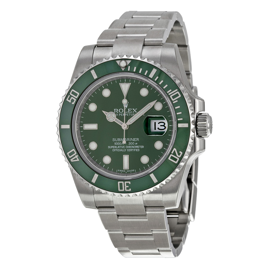 Steel Watch Rolex Submariner 116610lv Green Dial Steel Watch