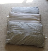 Use Old Pillows As A Dog Bed!! Make A Big Pillow Case N ...