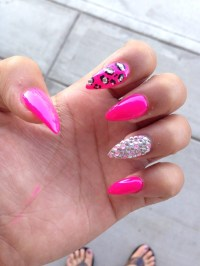 Pointy Nail Designs With Diamonds   Joy Studio Design ...