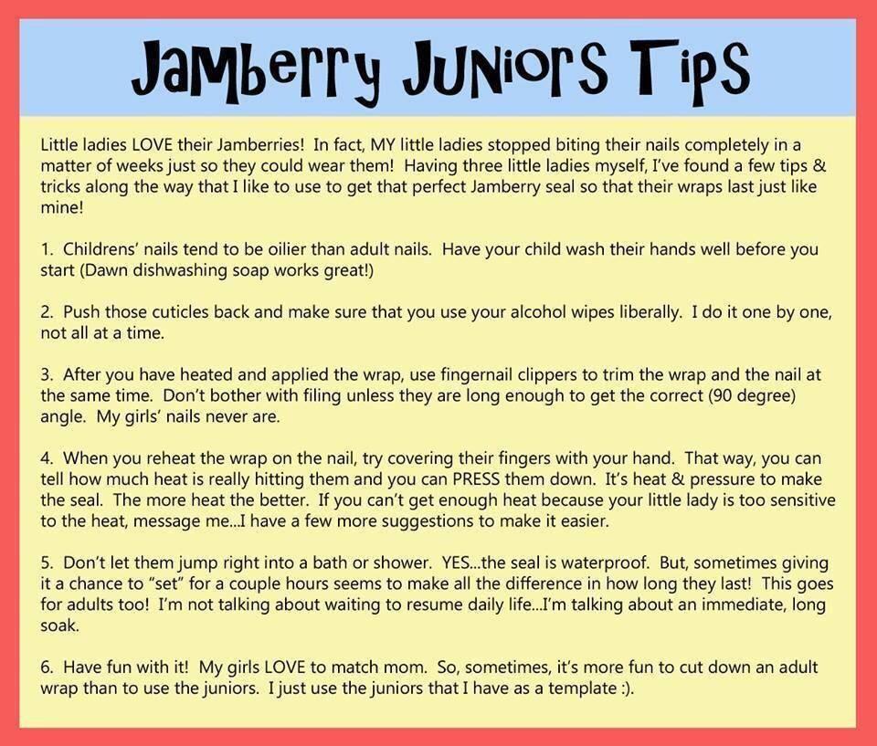 Jamberry Junior Tricks for application on a kiddo! Jammin\u0027 Tips - resume u of t