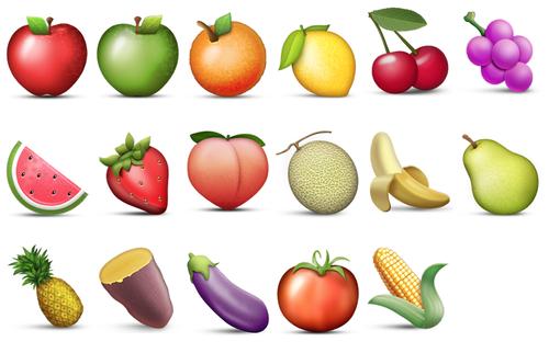 Iphone Ios 7 Animated Wallpaper Emoji Blog Fruit And Vegetables Emoji