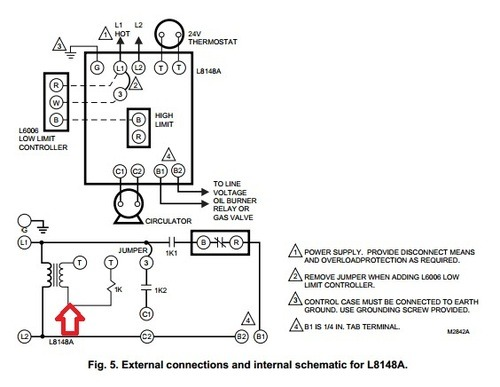 honeywell aquastat wiring diagram common c