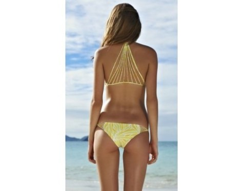 yellow bikini at the beach lovesurf