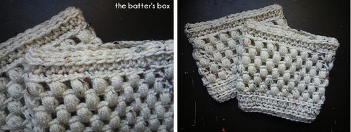 Crochet Boot Cuffs | free pattern || the batter's box.