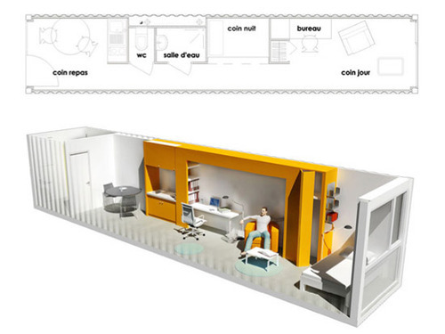 Shipping containers as affordable accommodation this big - Amenagement container maison ...