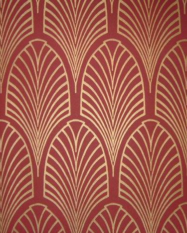 Art Nouveau and Art Deco, Art deco style wallpaper