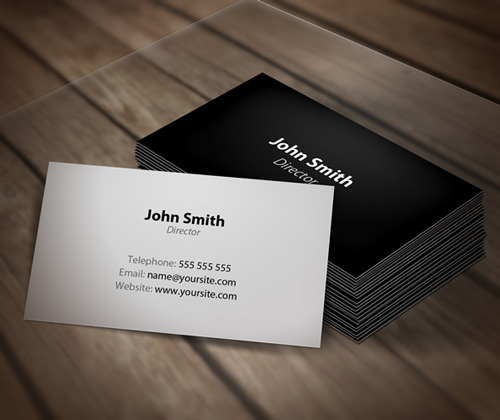 simple personal business card 3slufsluidsprekers