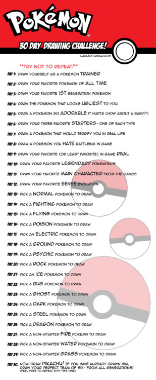 Pokemon Drawing Challenge!! I think I might try this sometime - video release form